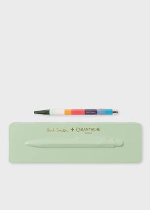 Caran d'Ache + Paul Smith - 849 'Artist Stripe' Ballpoint Pen With Pistachio Green Case
