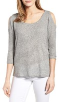 Velvet by Graham & Spencer Women's Cold Shoulder Thermal Knit Top