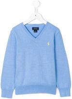 Ralph Lauren logo embroidered jumper - kids - Cotton - 2 yrs