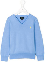 Ralph Lauren logo embroidered jumper