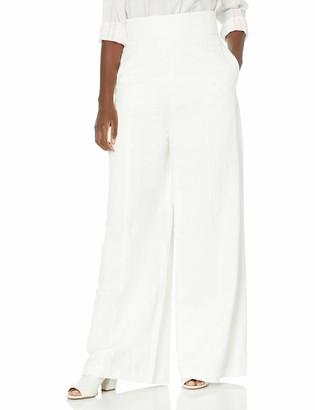 BCBGMAXAZRIA Women's Long Linen Pant
