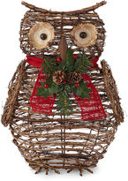 North Pole Trading Co. Outdoor Light-Up Owl
