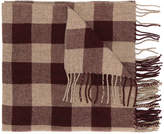 Closed checked scarf