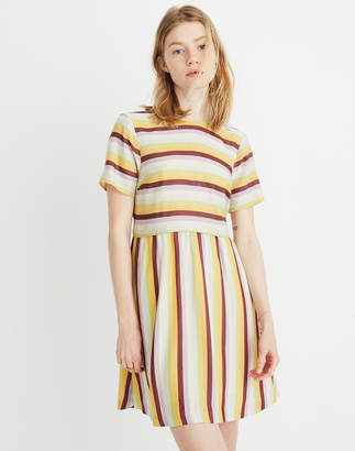 Madewell Striped Scoop-Back Dress