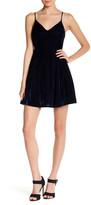 Lucca Couture V-Neck Low Back Velvet Dress
