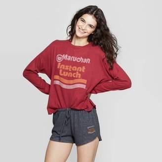 "Maruchan Women's Cozy ""Maruchan Instant Lunch"" Pajama Set - Mighty Fine Burgundy"