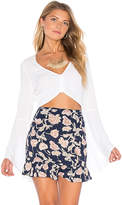 Flynn Skye Alyssa Crop Top in White. - size L (also in M,S,XS)