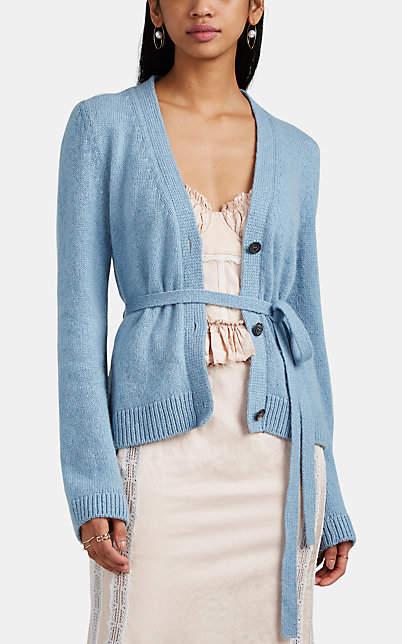 Brock Collection Women's Organisation Cashmere Belted V-Neck Cardigan - Blue