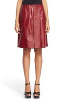 Marc Jacobs Women's Seamed Leather A Line Skirt