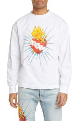 Palm Angels Sacred Heart Long Sleeve Graphic Tee