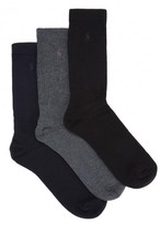 Ralph Lauren Cotton Blend Socks - Set Of Three
