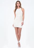 Bebe Sequin Racerback Dress