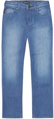 Emporio Armani Kids Stretch-cotton jeans