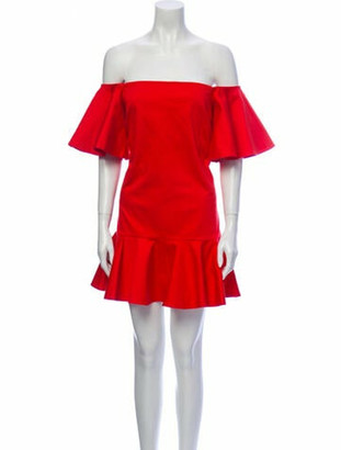Alexis Off-The-Shoulder Mini Dress Red