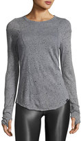 Koral Activewear Brick Distressed Long-Sleeve Athletic T-Shirt, Gray