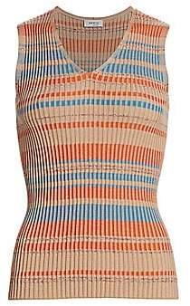 Akris Punto Women's V-Neck Rib-Knit Tank Top