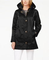 Jones New York Petite Hooded Turnkey Raincoat