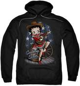 Betty Boop Hoodie Country Star Pullover Hoodie Size L