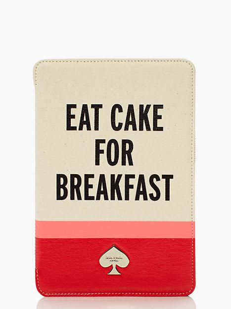 Kate Spade Eat cake for breakfast mini ipad folio hardcase