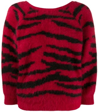 BA&SH Zaya animal patterned sweater