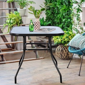Stagg Glass Dining Table Winston Porter