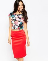 Jessica Wright Melissia Top in Floral Print