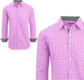 Asstd National Brand Mens Long Sleeve Checkered Dress Shirt