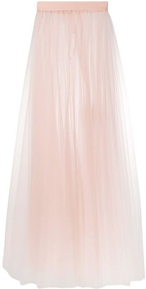 Loulou High-Waisted Sheer Maxi Skirt