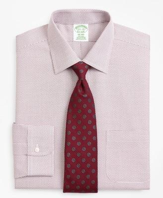 Brooks Brothers Milano Slim-Fit Dress Shirt, Non-Iron Micro-Check
