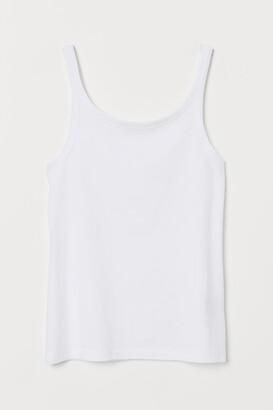 H&M Cotton Tank Top - White
