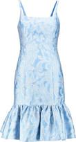 Michael Kors Regency paisley satin-jacquard dress
