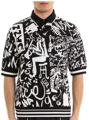 Dolce & Gabbana Music Print Polo Shirt