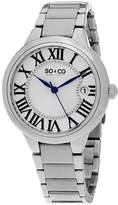SO & CO NY Womens Madison Stainless Steel Polished Bracelet Dress Quartz Watch J154P68