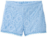 My Michelle mymichelle Lace Short with Pompom Trim (Big Girls)