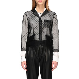 RED Valentino Single-breasted Jacket In Point D'esprit Tulle