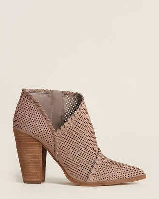 Vince Camuto Elephant Lamorna Perforated Leather Ankle Booties