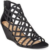 Material Girl Henie Caged Demi Wedge Sandals, Only at Macy's