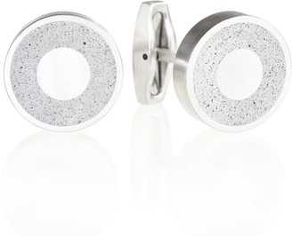 Gravelli Aim Concrete & Surgical Steel Cufflinks Grey