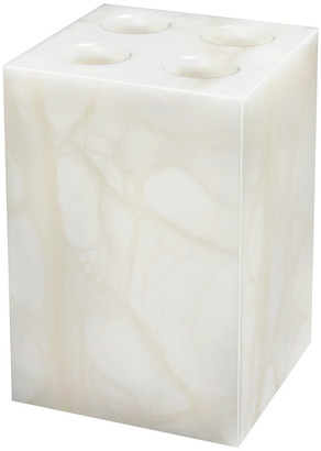 Anna New York - Tessuto Toothbrush Holder - White