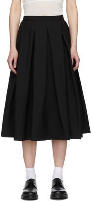 Comme des Garçons Comme des Garçons Black Mohair Pleated Skirt