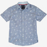 Nautica Little Boys' Chambray Allover Sailboat Shirt (2T-7)