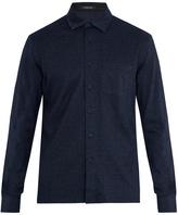 Ermenegildo Zegna Long-sleeved cotton-jersey polo shirt