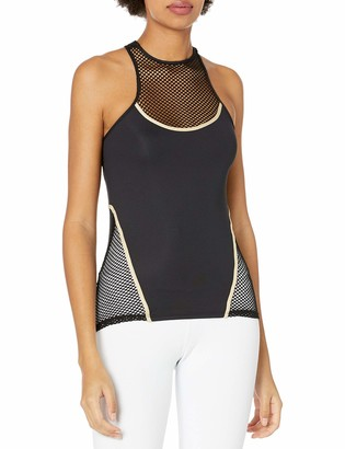 Luli Fama Women's Fishnet Layered Tank