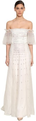 Temperley London Orelia Embellished Tulle Dress