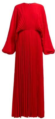 Valentino Pleated Silk Georgette Gown - Womens - Red