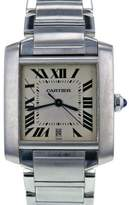 Cartier Tank Francaise W51002Q3 Stainless Steel White Dial 32mm Men's Watch