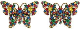 Gucci Crystal studded butterfly earrings