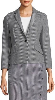 HUGO BOSS Striped Stretch Blazer