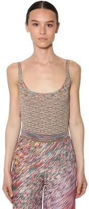 Missoni Stretch Cotton Blend Knit Tank Top