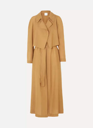 Agnona Wool And Cashmere-blend Trench Coat - Brown
